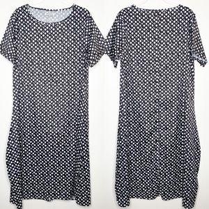 MISSLOOK Black White Moon Lunar Midi Dress XL